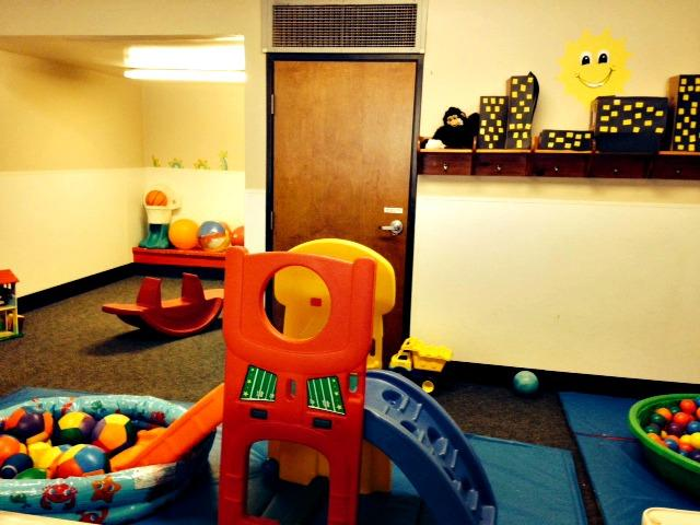 The Toddler Class also has a gross motor area to get the wiggles out!