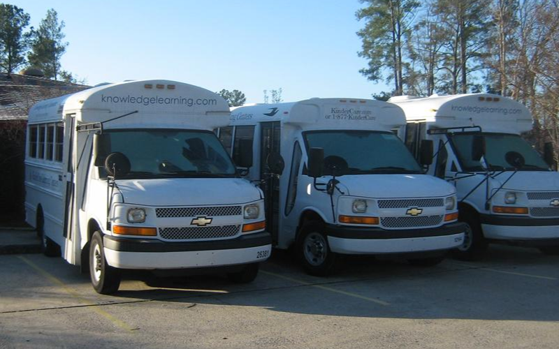 The KinderCare buses
