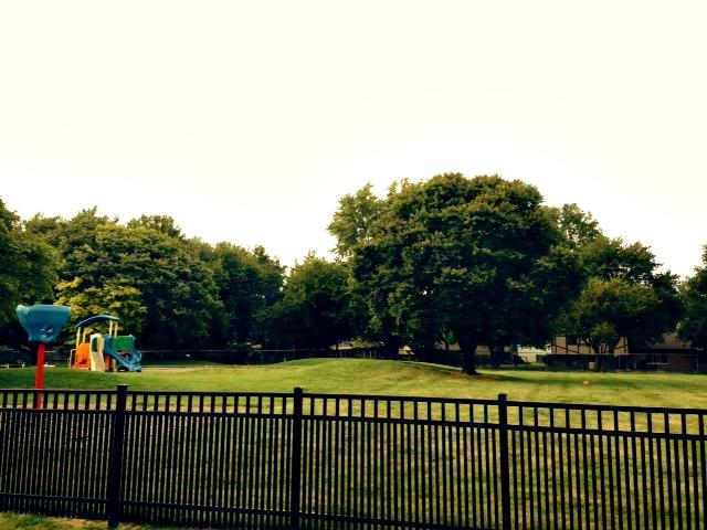 Our playground features a very large fenced in yard that the children love for organized games or our community events- such as our carnival night or fall festival.