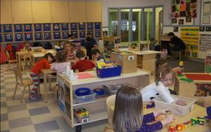 During small group learning, our Preschool children participate in various centers of their choosing