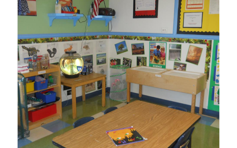 Prekindergarten Science/Sensory Center: providing experiences that develop your child's ability to problem solve, observe, predict, and explore.