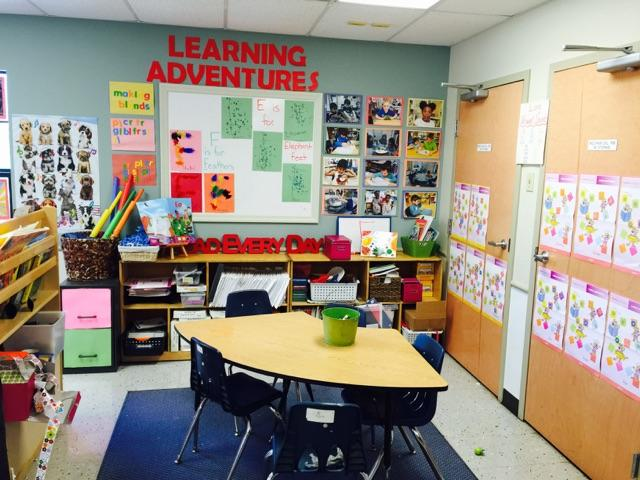 Learning Adventure room for Math, Phonics, Cooking, and Music enrichment programs.
