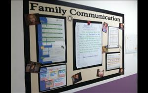 Toddler Classroom Family Communication Board