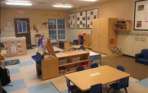 This is our Toddler B classroom. Children in this room range in age from 18 months-2 and 1/2. You'll notice that everything is down on a child's level. We want our children to have access to all of the toys to play with and explore throughout the day!