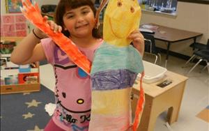 The School Age Class created life size puppets!