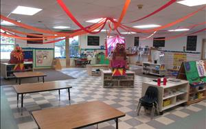 Our Prekindergarten classroom decorated for a circus theme!