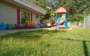 Our toddler playground! We enjoy our outside activites two times a day!