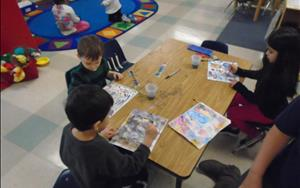 Our Pre-Kindergarten room includes a curriculum aligned with common core state standards in all areas of development.  Students begin to use letter sense to develop words.  They also focus on Spanish, vocabulary, writing, and literacy development.  Students also participate in state wide assessments to get they ready for Kindergarten education.