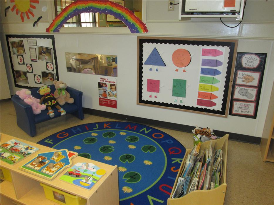 Toddler circle time area.
