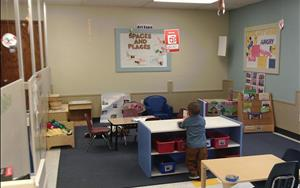 Toddler Classroom - Toddlers learn through hands-on experiences and discovery. Our classroom environments are set up where little ones can explore what interests them, take risks, and accomplish very big things.
