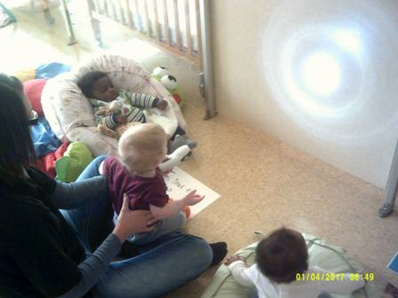 The Infant Classroom had a blast learning about light and dark with flashlights!