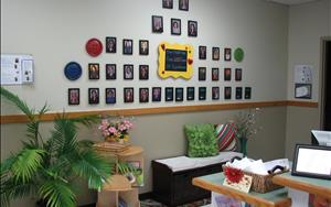 Check out our staff wall. Together we have over 150 years of early childhood education experience.