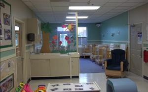 Our Infant B is a warm and inviting room for babies roughly 6 months to a year of age.