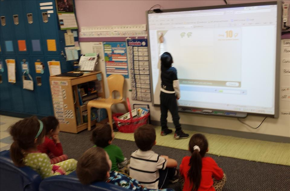 Our interactive kindergarten utilizes SmartBoard technology to enhance the children's learning experience as well as using traditional teaching methods throughout our K12 curriculum.