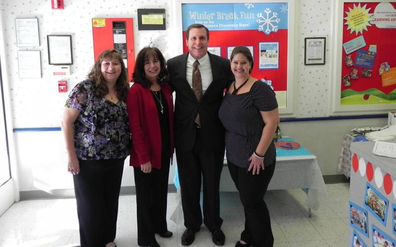 Assemblyman Scott Wilk poses with our District Manager, Tina Kernohan and Center Director Tina Barton-Torp and Assistant Center Director Pettit.