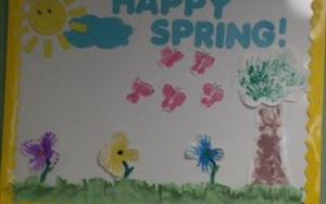 The infants had fun creating this Spring scene.