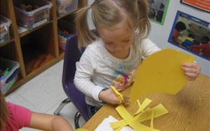 We improve our fine-motor skills with cutting practice!