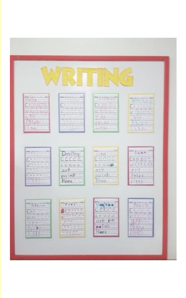 Children's writing activity