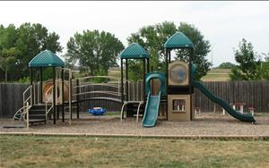 This playground is designed for ages three and up.  There are so many areas to play and explore with all our friends.