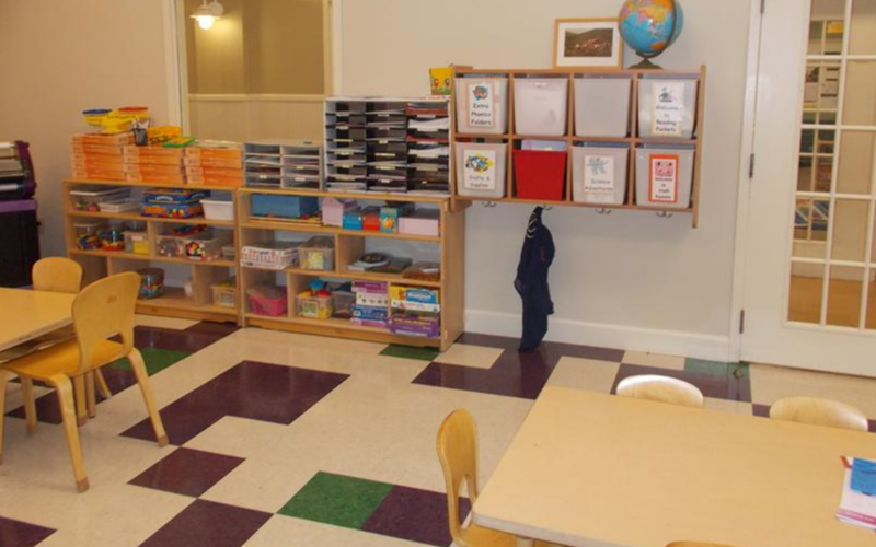 Our Learning Adventures classroom provides a separate space for small group instruction in math, phonics, music, reading or cooking.