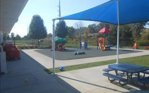 "Our Toddler students have their very own ""smaller"" playground just for them!"