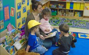 Toddler Classroom   - story time with the toddlers