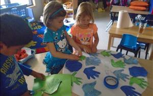 PreKindergarten Has Fun Designing Their Earth Day Globe