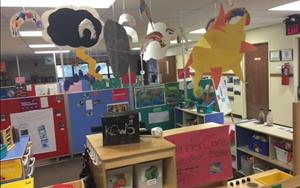 Pre-K's weather center