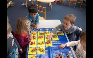 We seek ways to practice sorting, matching and categorizing; and use blocks and math cards to teach counting, number identification, and patterning.