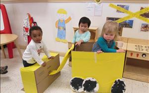 Our Toddlers are focussing on their creative expression!