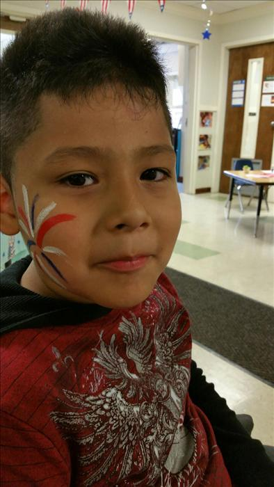 Another student in our School Age classroom is celebrating our Fourth of July Cookout Celebration.