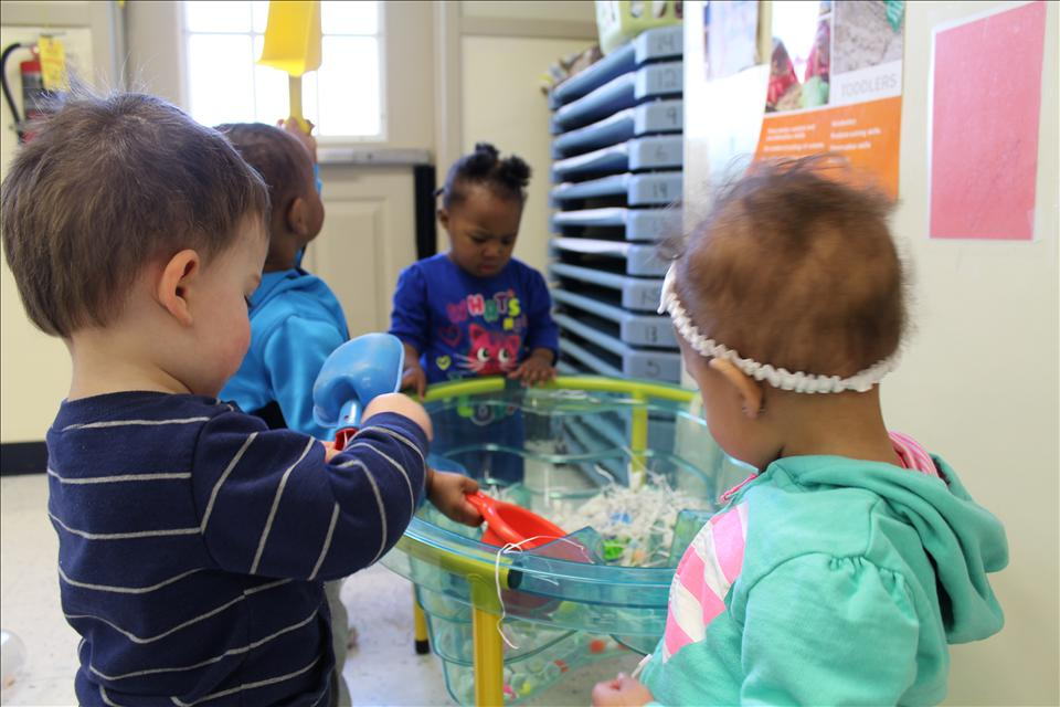 Sensory exploration allows each child the opportunity to investigate their surroundings and materials that they may not come into contact with otherwise.