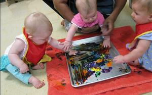 Even at a young age, children engage in process art