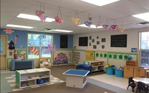 Our Discovery Preschool classroom decorated for the ocean theme!