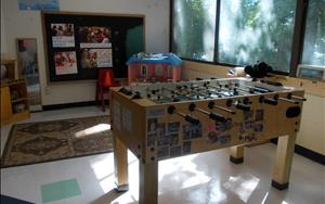 "School Age Classroom - It even has a ""Foosball"" table!"