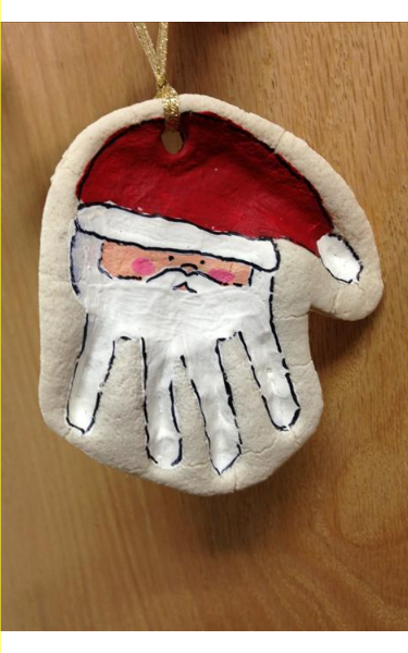 Santa hand print from our Infant Classroom