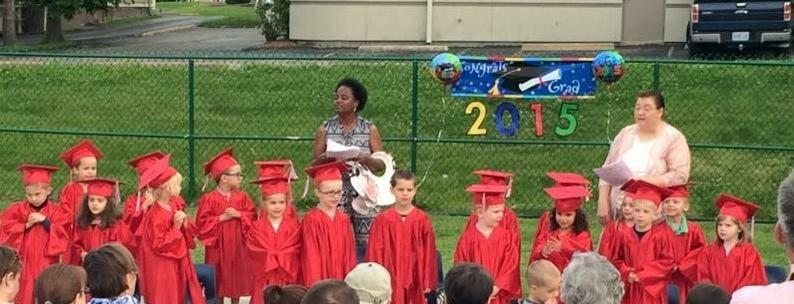 We end every school year with a Pre-K Graduation!