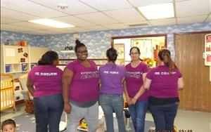We are a family here at Kelly Boulevard KinderCare--we've got each other's backs!