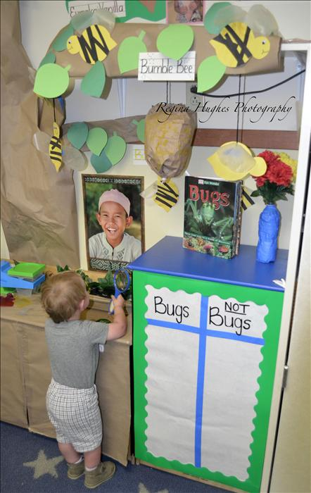 DPS - Children are excited to explore new themes each month watching their dramatic play area transform into the new theme.