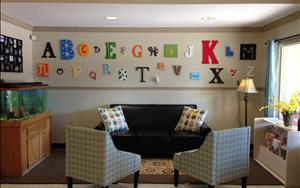 Welcome to the Kirkwood KinderCare! Our lobby has a seating area for families and a Parent Center to keep families informed of all upcoming center and community events!