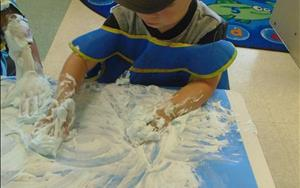 Fun with shaving cream!