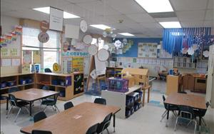 Our preschool classroom is divided into discovery areas which allows children freedom to explore, learn and play!