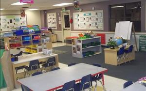 Our Pre-Kindergarten room is a fully academic enriched classroom to fully ready our students for Kindergarten and public school.