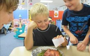 We scultped and made our own volcanoes and then watched them erupt!