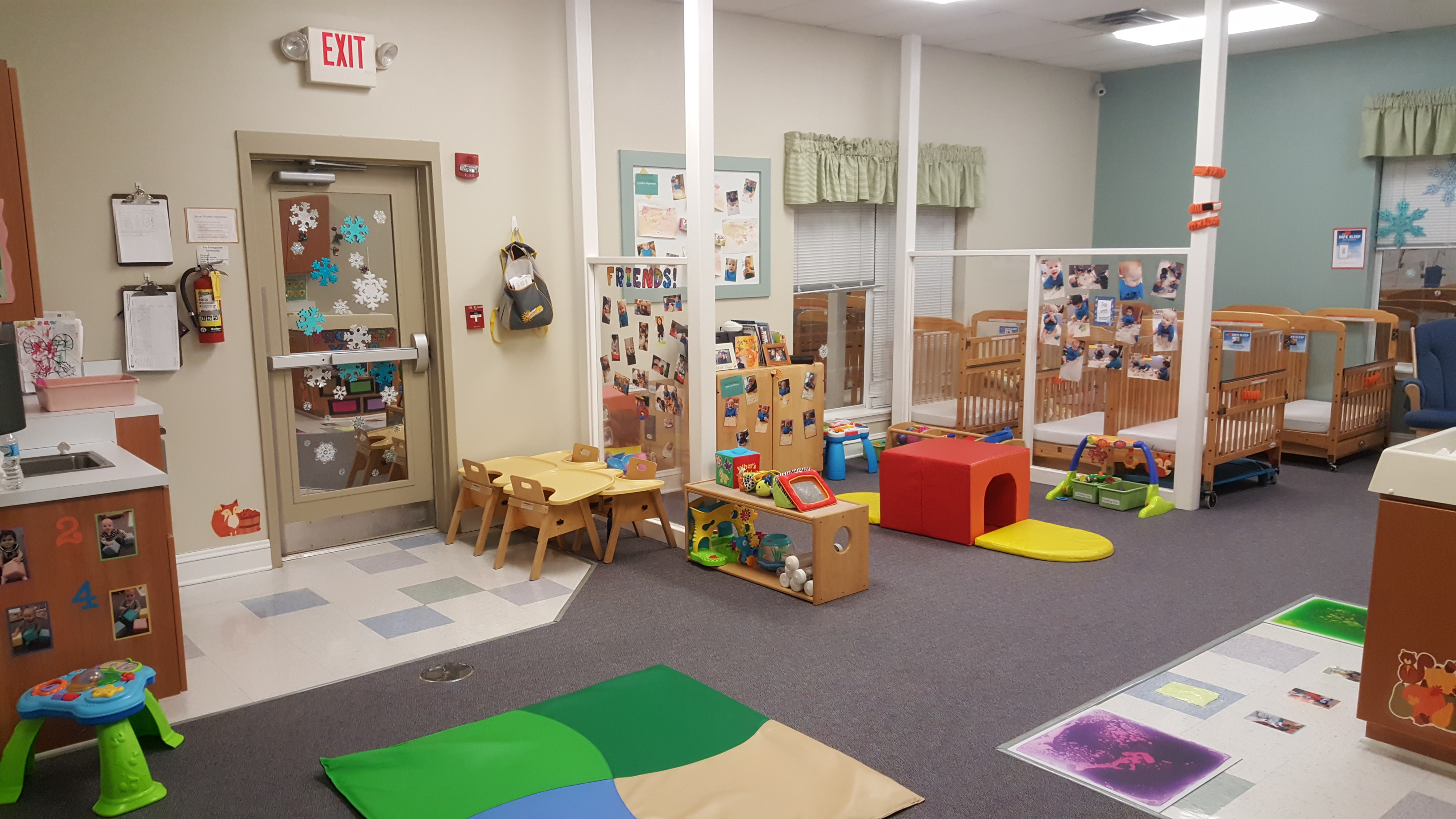 This is our Infant A classroom for younger infants.