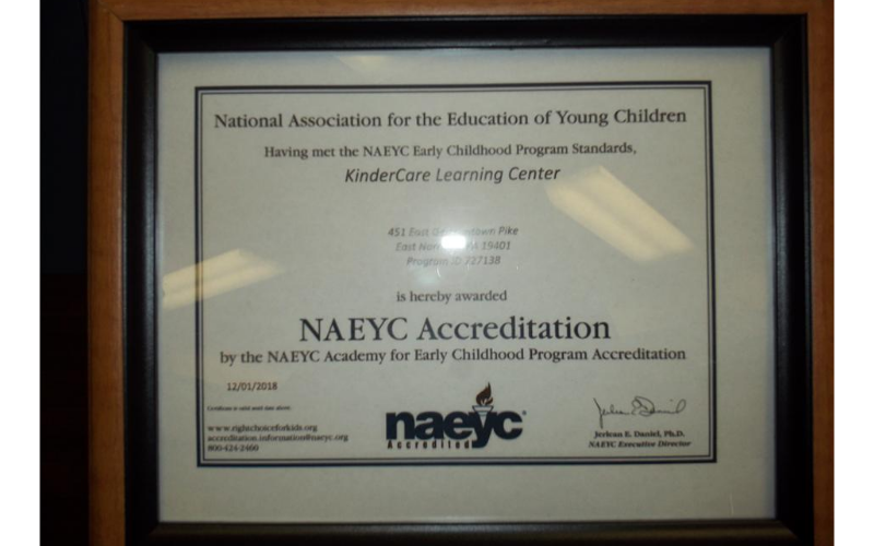 NAEYC Certificate
