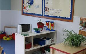 Our learning centers are set up to build math skills, literacy and language skills, science and sensory skills, fine motor and gross motor skills as well as emotional and social skills.