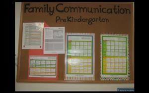 Prekindergarten Family Communication Board