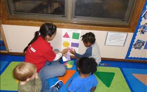 Learning shapes and colors with Ms. May!