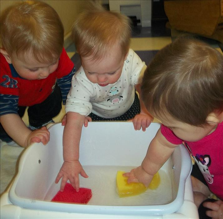Exploring water in the infant classroom